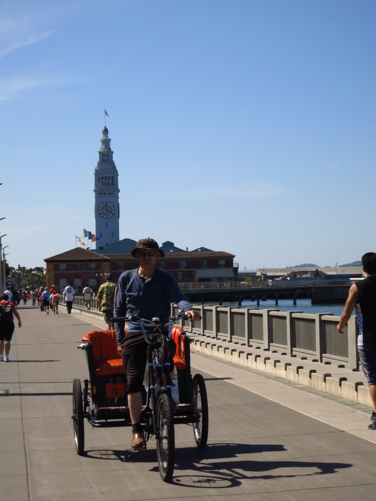 The Ferry Building in sight