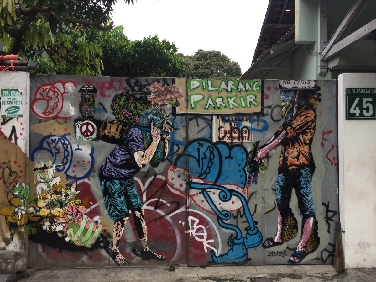 Street art, underground worship, and zero productivity in Yogyakarta